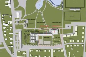 helyszínrajz és a fejlesztési tervek