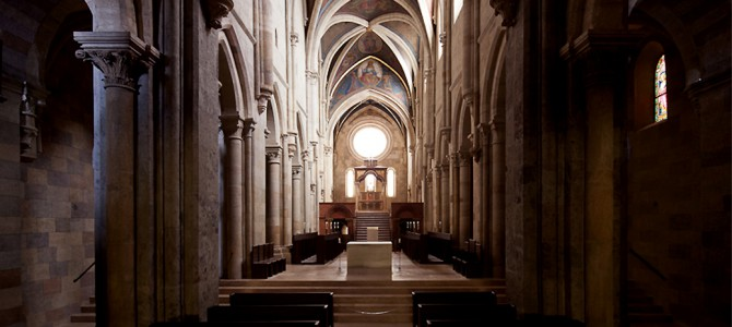 A bazilika belső felújítása - Pannonhalma